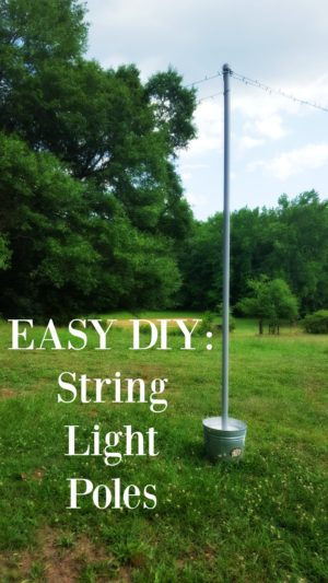 String Lights Outdoor Pole : Easy DIY String Light Poles - Homestead Bloggers Network