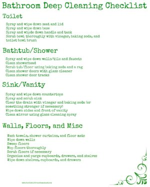 how to deep clean your bathroom plus a printable homestead bloggers