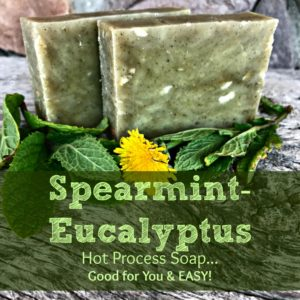 How to Make Spearmint-Frankincense-Eucalyptus Hot Process Soap