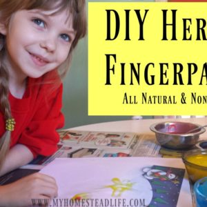 DIY Herbal Fingerpaint Recipe- All Natual & Non-Toxic